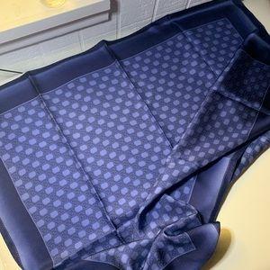 🌊NWT Scarf Silk Blue GG 90^90